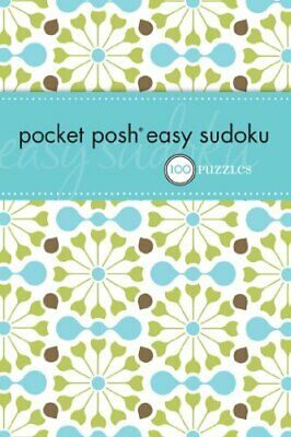 Pocket Posh Easy Sudoku: 100 Puzzles by The Puzzle Society Paperback Book The