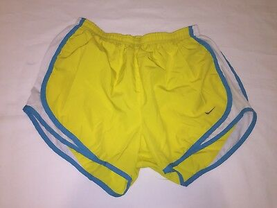 Nike DRI-FIT womens athletic tempo running yellow shorts size M