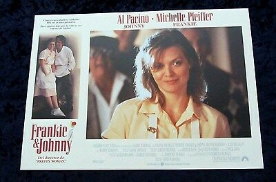 Frankie and Johnny lobby card  # 5 - Al Pacino, Michelle Pfeiffer