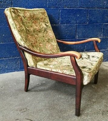 Vintage ~Danish? ~Rosewood ~Armchair ~Easy Chair ~Fireside Chair ~V. Comfy ~VGC