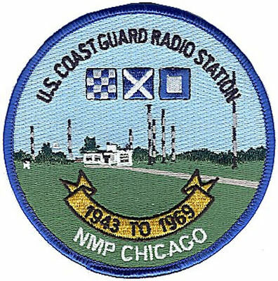 Radio Station Chicago NMP Illinois reunion 2001 KR3735 USCG Coast Guard patch