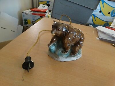 ancienne lampe animalier - ours -  m