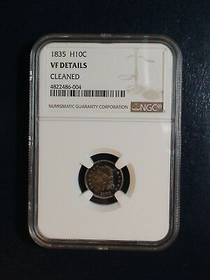 1835 CAPPED BUST HALF DIME NGC VF 1/2 10C Coin PRICED TO SELL!