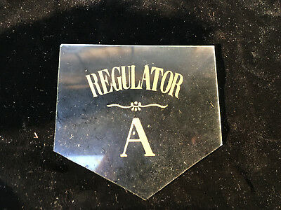 Vintage Regulator Pendulum Door Clock Glass for Parts Repair ML195