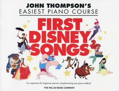 Thompson John Easiest Piano Course First Disney Songs Easy Pf Bk ...