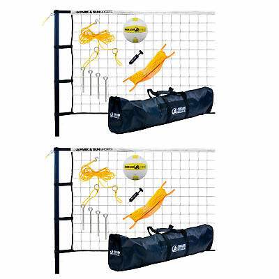 Park & Sun Sports Tournament 179: Portable Outdoor Volleyball Net (2 Pack)