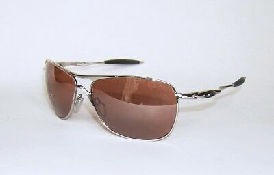 25517ed5f56 OAKLEY SUNGLASSES TI Crosshair Pewter Black Iridium Polarized OO6014 ...