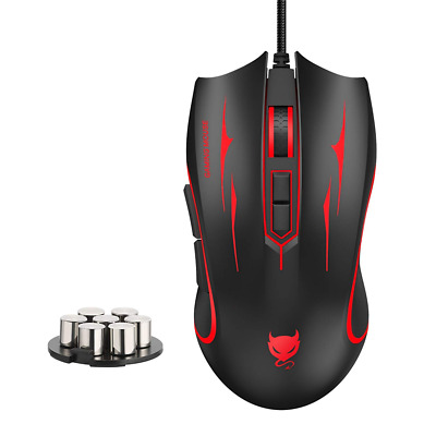 Redimp Optical Gaming Mouse Wired with Weight System 4000 DPI 7 Buttons Programm