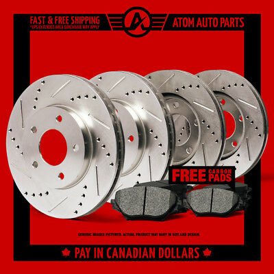 2012 2013 2014 2015 Ford Flex Non HD (Slotted Drilled) Rotors Metallic Pads F+R
