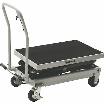 Strongway 2-Speed Hydraulic Rapid Lift XT Table Cart- 1000-Lb. Capacity