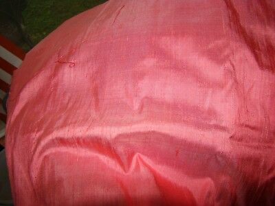 """Vintage Shocking Pink Pure Silk Fabric ***** Four Yards 36"""" Wide"""