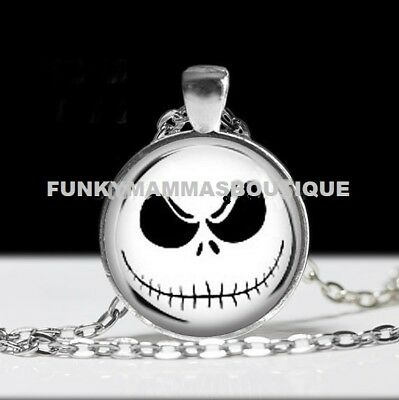 Nightmare Before Christmas Glass Necklace Jack Skellington Gift Bag Or Box