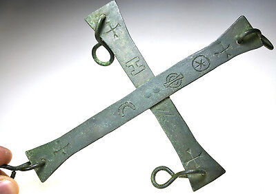 Large Byzantine Bronze Processional Cross