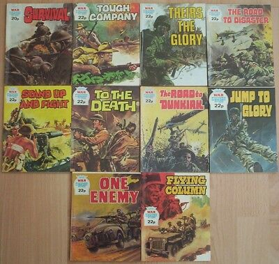 Dated 1981-82. TEN  x WAR PICTURE LIBRARY Comics #'s 1874 - 1946.