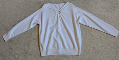 Sandro Round Cut Out Sweater Size 3 US M
