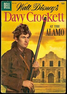 Dell Four Color, Davy Crockett at the Alamo, #639, Jul 1955, Disney, 6.0-7.0