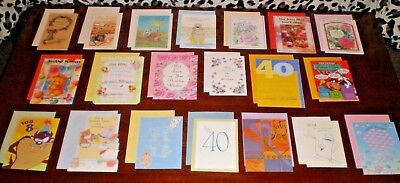 LOT OF 20  NICE QUALITY CARDS NOS BIRTHDAY GREETING CARDS NEW with Envelopes  #2