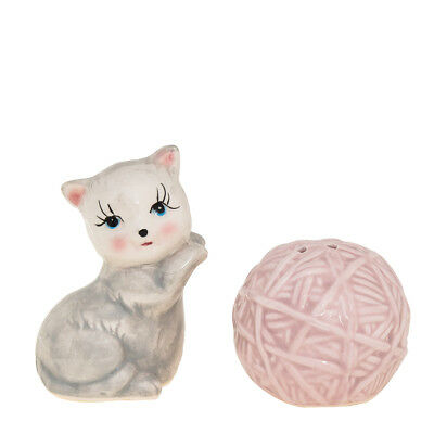 2pc Novelty Cute Cat & Yarn Salt & Pepper Shakers Set Kitchen Décor Home Table