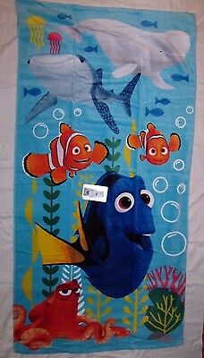 Disney Store Finding Dory Beach Towel New w/ attached Tag 30 x 60 Cotton New