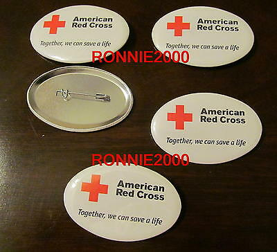 """""""TOGETHER WE CAN SAVE A LIFE""""  BUTTONS-  LOT OF FIVE  American Red Cross pin"""