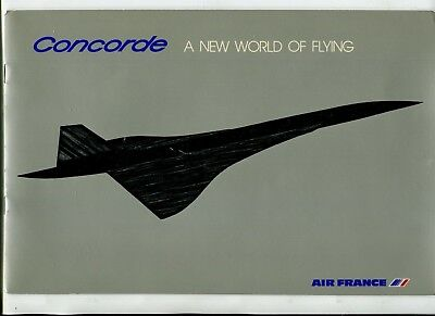 CONCORDE SST Airplane AIR FRANCE Advertising Booklet NEW WORLD OF FLYING