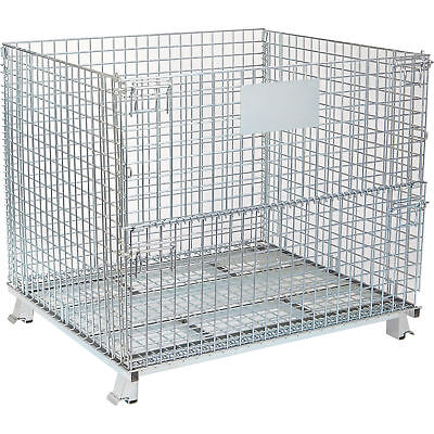 Tekrite Collapsible Wire Container- 48in.L x 40in.W x 42in.H 4000Lb. Capacity