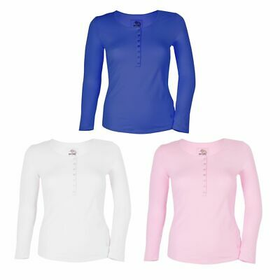 Gin Tonic Ladies Long Sleeve Shirt with Button Facing