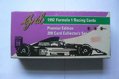Superb Set Of 200 Premier Edition 1992 Formula 1 Racing Cards