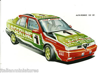 Alfa Romeo 155 D2 Vidali Photo Archive Photograph Mint