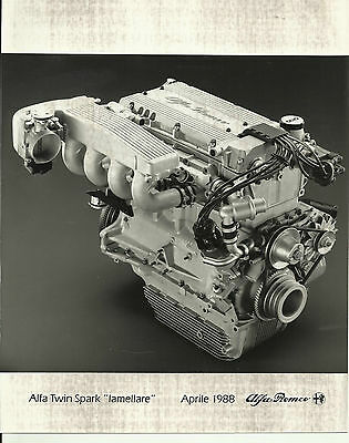 Alfa Romeo Lamellare Twin Spark Engine Original Photograph Mint Condition 1988