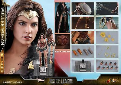 Hot Toys 1/6 Dc Justice League Mms451 Wonder Woman Diana Deluxe Ver Figure