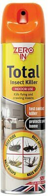 Zero In Total Insect Killer 300ml - Indoor Use Kills Flying And Crawling Insects