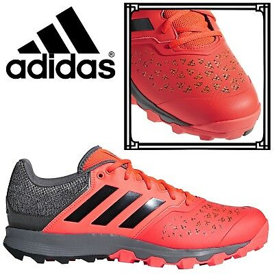 online store b4435 ac930 Adidas FlexCloud Mens Field Hockey Shoes Red Sports Trainers AC8784