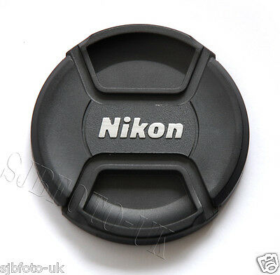 77Mm Centre-Pinch Clip-On Front Lens Cap Cover For Nikon Nikkor Lens Lc-77