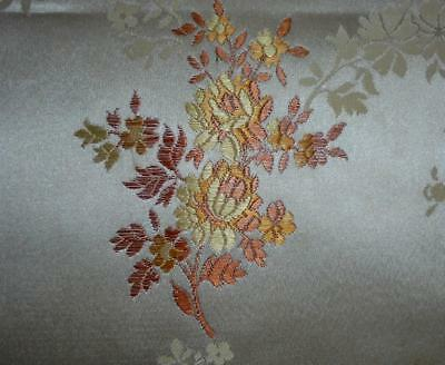NEW AUTUMN STOCK ANTIQUE/VINTAGE FRENCH SILKY BROCADE c1920s-30s, projects 223.