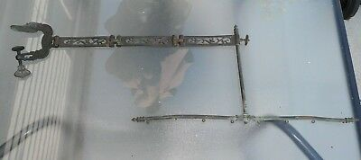 Victorian fire screen Brass/Bronze with articulated hinges & Clamp