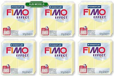 FIMO Effect 6x Pastel Vanilla 57g Blocks 8020 105 - Polymer Oven Bake Clay