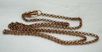 Vintage Superb 9 Carat Rose Gold Belcher Chain