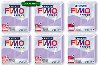 FIMO Effect 6x Pastel Lilac 57g Blocks 8020 605 - Polymer Oven Bake Clay