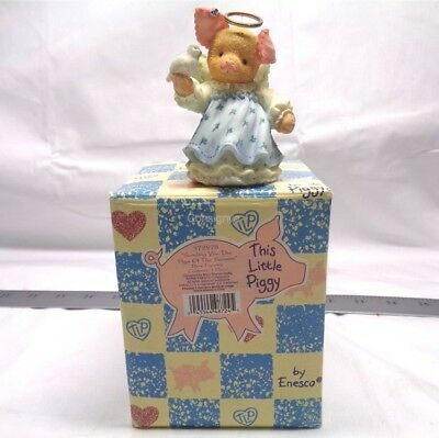 ENESCO This Little Piggy Sending You The Pigs Of The Season Dove Figurine