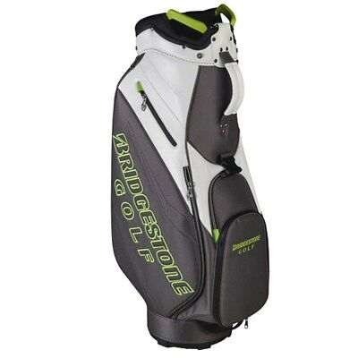 NEW Bridgestone Golf Lightweight Cart / Carry Bag White / Grey / Lime Green