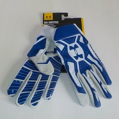 Under Armour MOTIVE Batting Gloves BLUE WHITE 1237474 400 Adult XL Extra Large