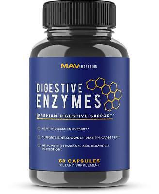 Premium Digestive Enzymes + Probiotics Supplement – All Natural – Stop