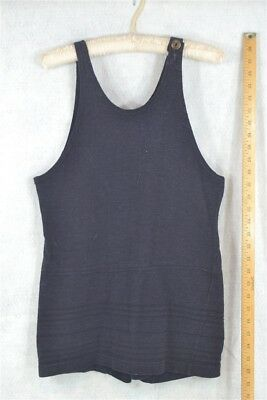 bathing suit wool swim costume 1900 navy Edwardian WWI flapper original