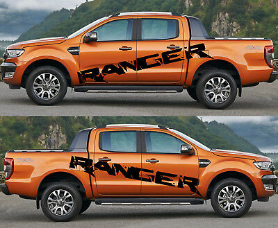 2X Ford Ranger  large side Vinyl Decals graphics sticker 2015-2019