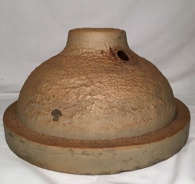 Extremely RARE Early 1900s Antique Stoneware Crock Christmas Tree Stand Akron Oh