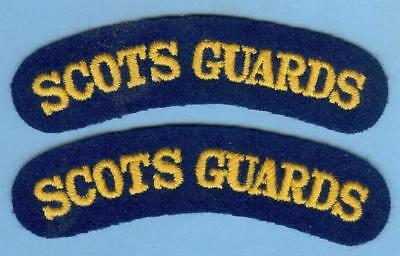 British Army Repro Title Patch Pair--SCOTS GUARDS