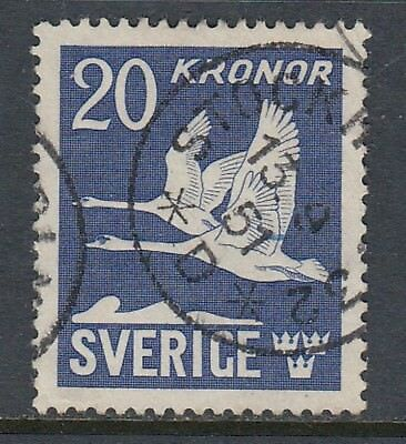 SWEDEN 1942 20k SWANS Perforated on 4 sides, USED