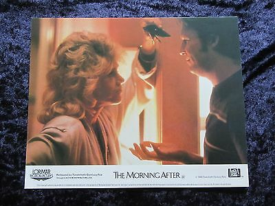 THE MORNING AFTER lobby card JANE FONDA, JEFF BRIDGES  - mini uk card # 5