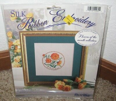 Bucilla Silk Ribbon Embroidery Kit Flower Of The Month October Nip